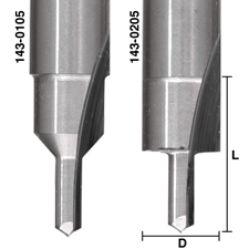 Solid Carbide Screw Slot Bits