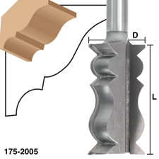 Reversible Crown Molding Bits