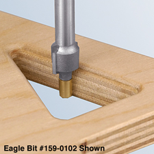 Miniature Brass Piloted Router Bits