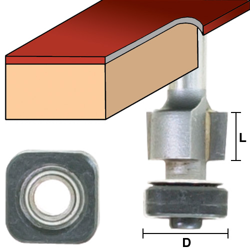 Laminate Bits with Square Bearings