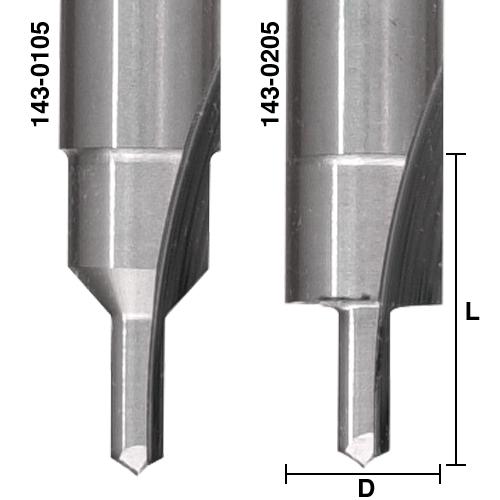 Solid Carbide Screw Slot Bits