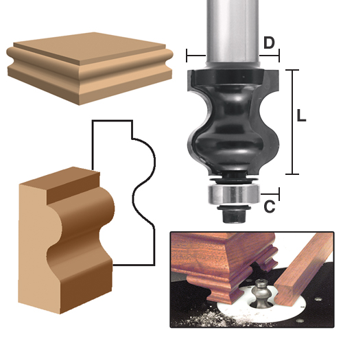 Ogee Bracket Foot Molding Bits