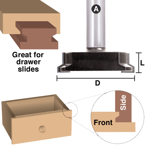 Reversible Drawer Lock And Glue Joint