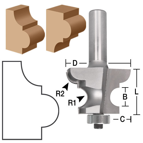 Reversible Base Cap Molding