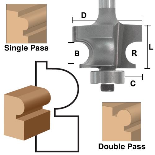 Squared Edge Beading Bits