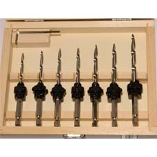 7-Piece Taper Drill & Countersink Set