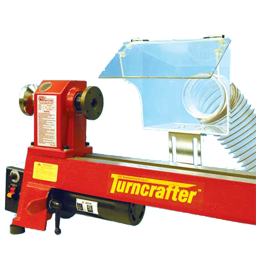 Clear Lathe Dust Hood with Magnetic Mounting Clamp