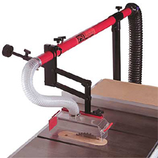 Dust collection table saw dust collection guard for Wood floor joint guard