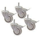 4-Piece Dual Locking Caster Set (Fits Kreg Stand Only)