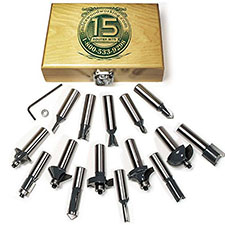 15-Piece Router Bit Sets