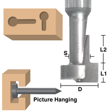 Picture Hanging / Keyhole Bits