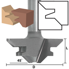 Eagle America Router Bits - 45 Degree Lock Miter Bits