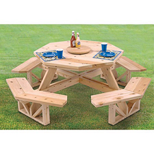 Woodworking picnic table plans octagon free PDF Free Download