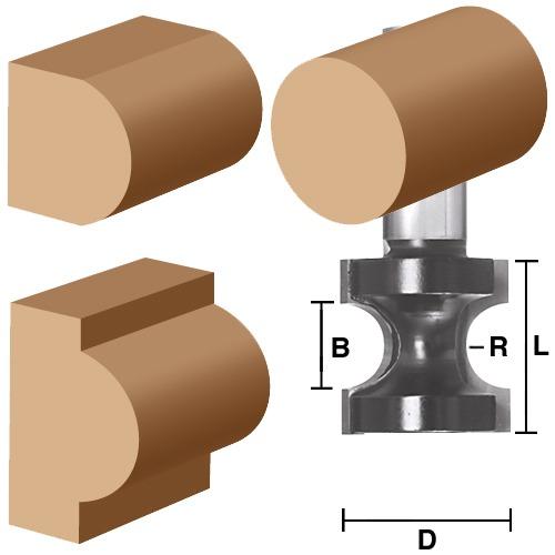 Bull Nose (Full Radius) Bits